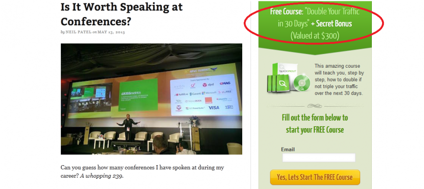 is it worth speaking at conference