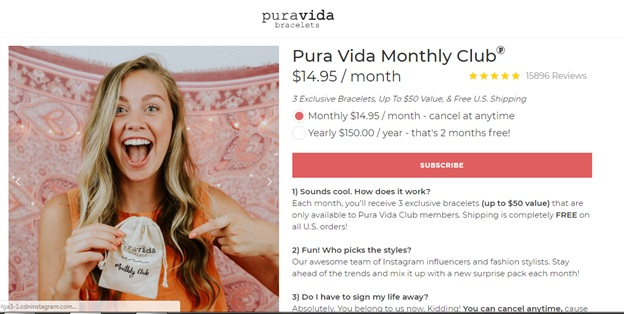 Puravida Monthly Club